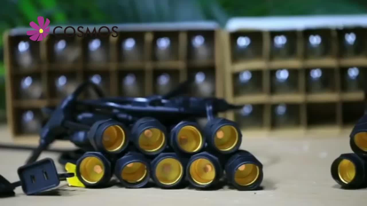 Hersteller G40 S14 48ft party patio dekorative solar lichterketten im freien