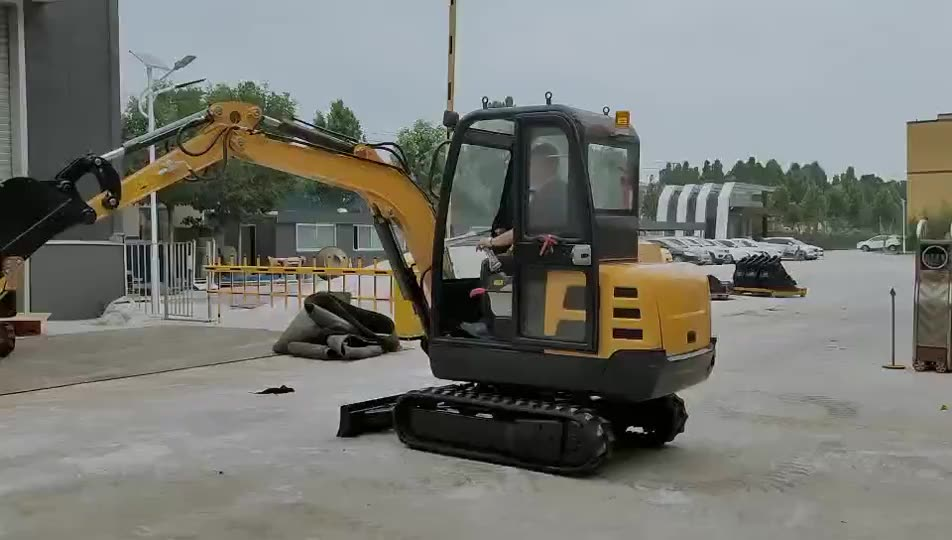 Shandong China 1.8ton 2ton mini excavator with canopy and 380mm bucket