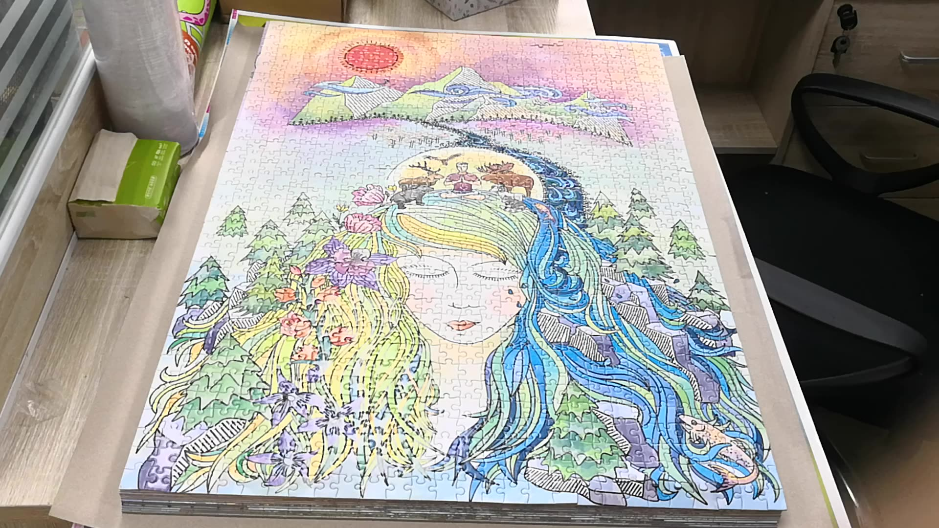 Paper Custom Adult Jigsaw Puzzles About 1000 Pieces