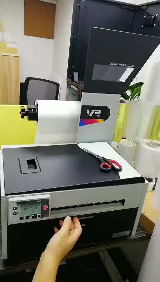 VP750 roll HUISDIER PP film digitale inkjet label drukmachine kleur label printer