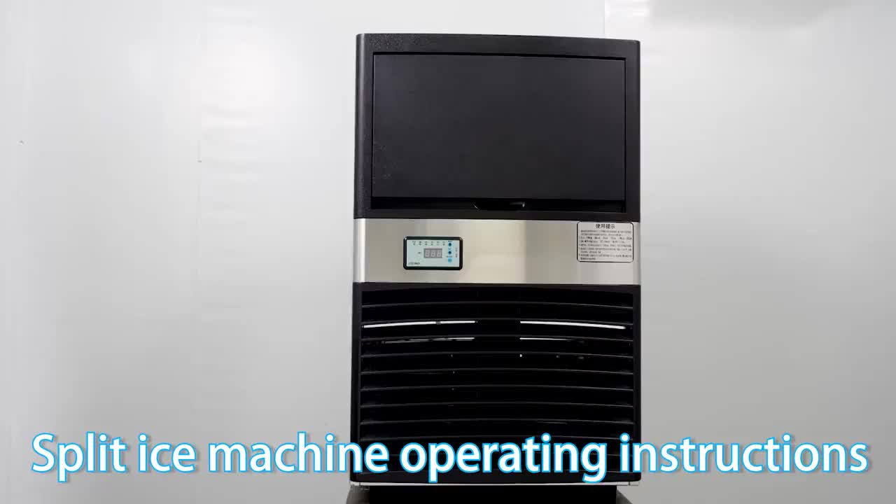 130kg Stainless Steel Commercial Ice Maker Auto Clear Ice Cube Making Machine
