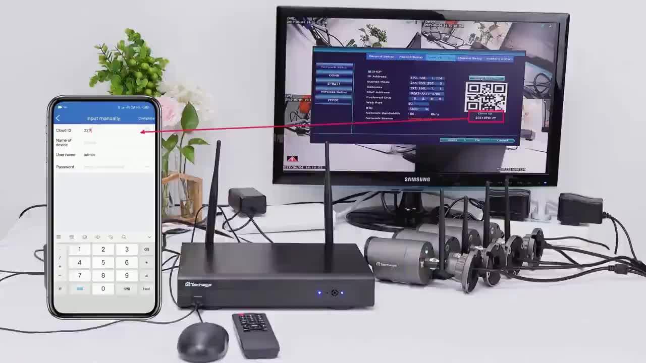 Profesyonel kablosuz 8 kanal NVR kiti 2MP Wifi iki yönlü ses Bullet gece görüş CCTV güvenlik kamera sistemi