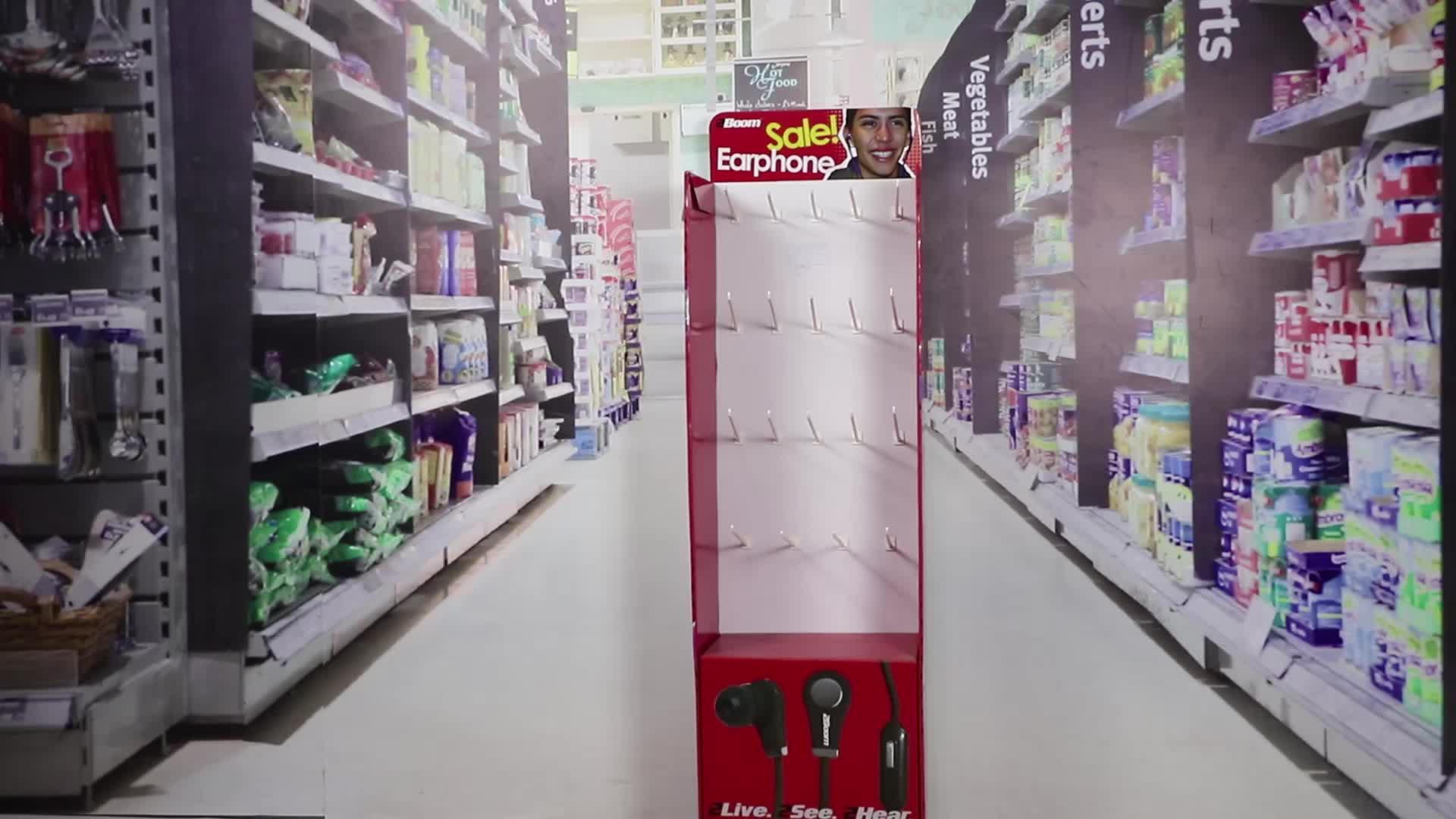 Leader display design personalizzato pubblicità riciclabile cartone appeso calzini espositore