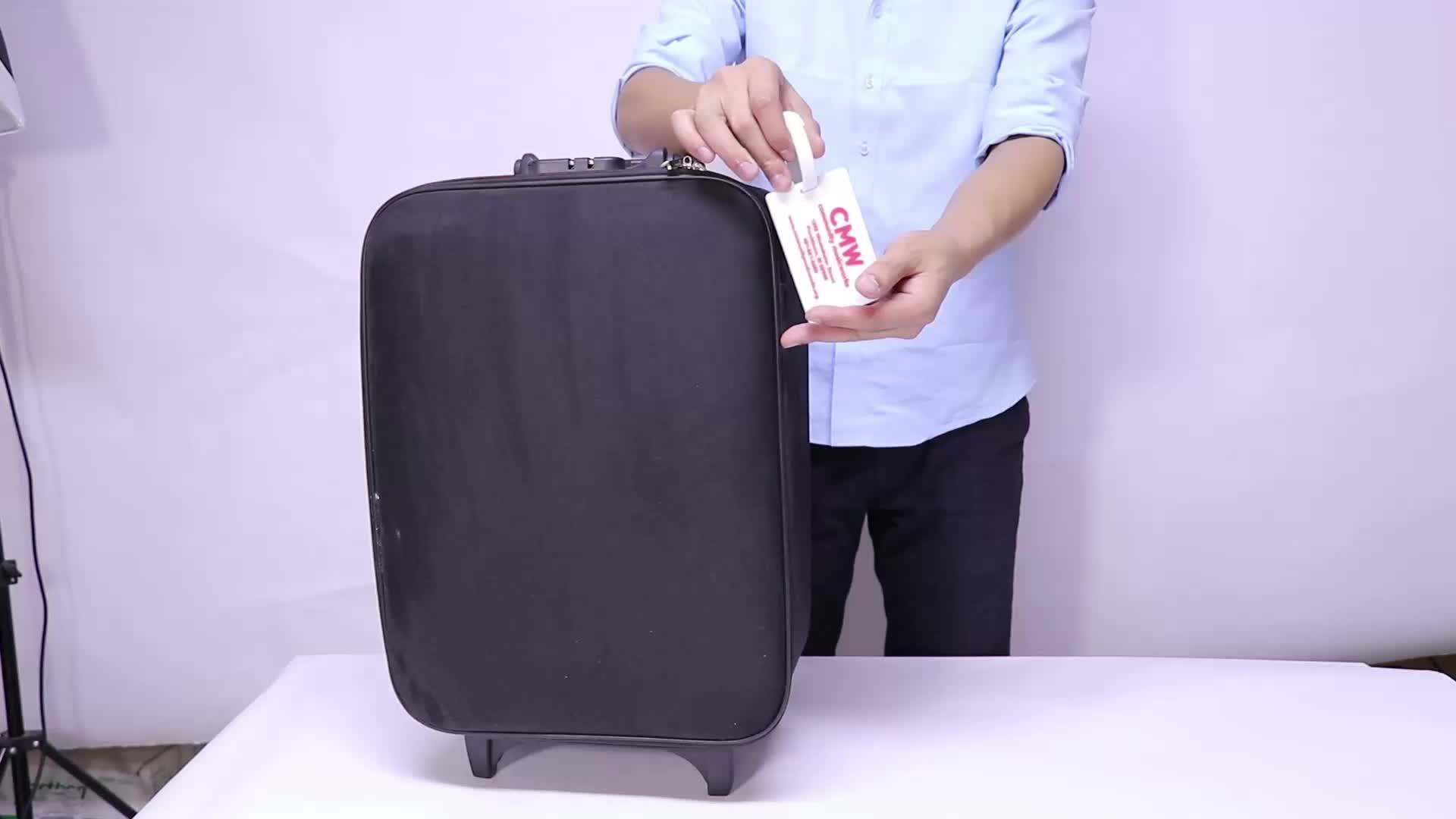 Oempromo custom soft pvc luggage tag