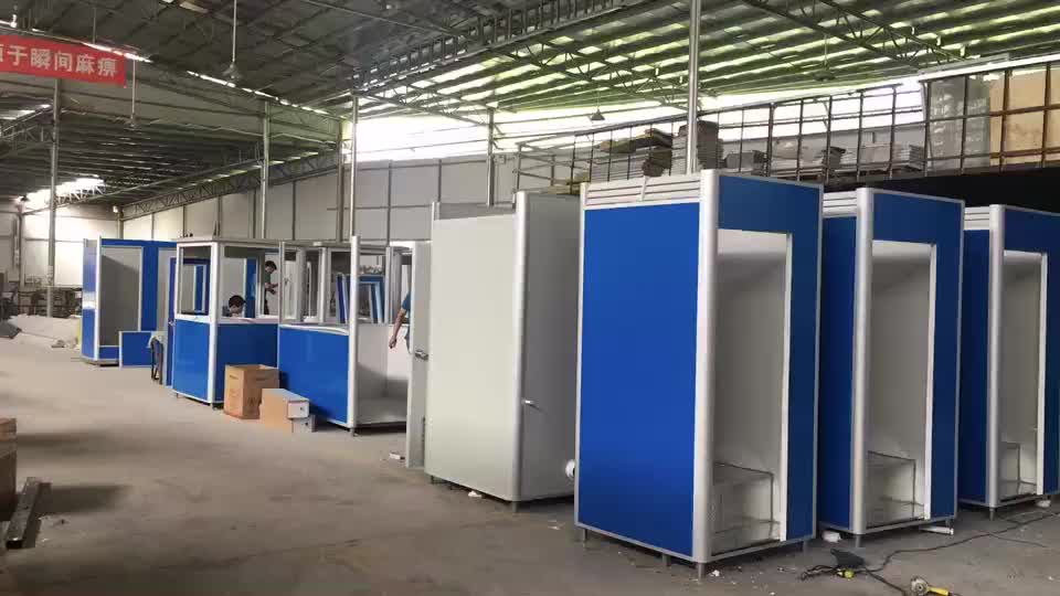 Wholesale Mobile Outdoor Public Security Guard house/Prefab Sentry Box/Shop/Kiosk/Ticket Booth