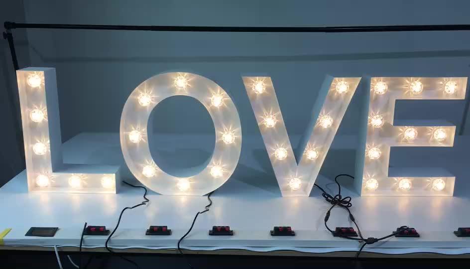 Di alta Qualità Illuminato Segno della Lettera di Amore per la Cerimonia Nuziale