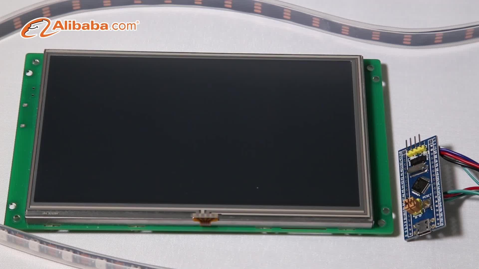 Programlanabilir Gömülü 7 inç elektronik kontrol modülü ekran + TFT LCD + Ana Kurulu ile CPU/sürücü, destek RS232/RS485/TTL bağlantı noktası