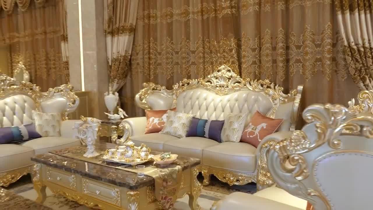 बेडरूम फर्नीचर के नए डिजाइन के साथ रॉयल प्राचीन ड्रेसिंग टेबल दर्पण और मल
