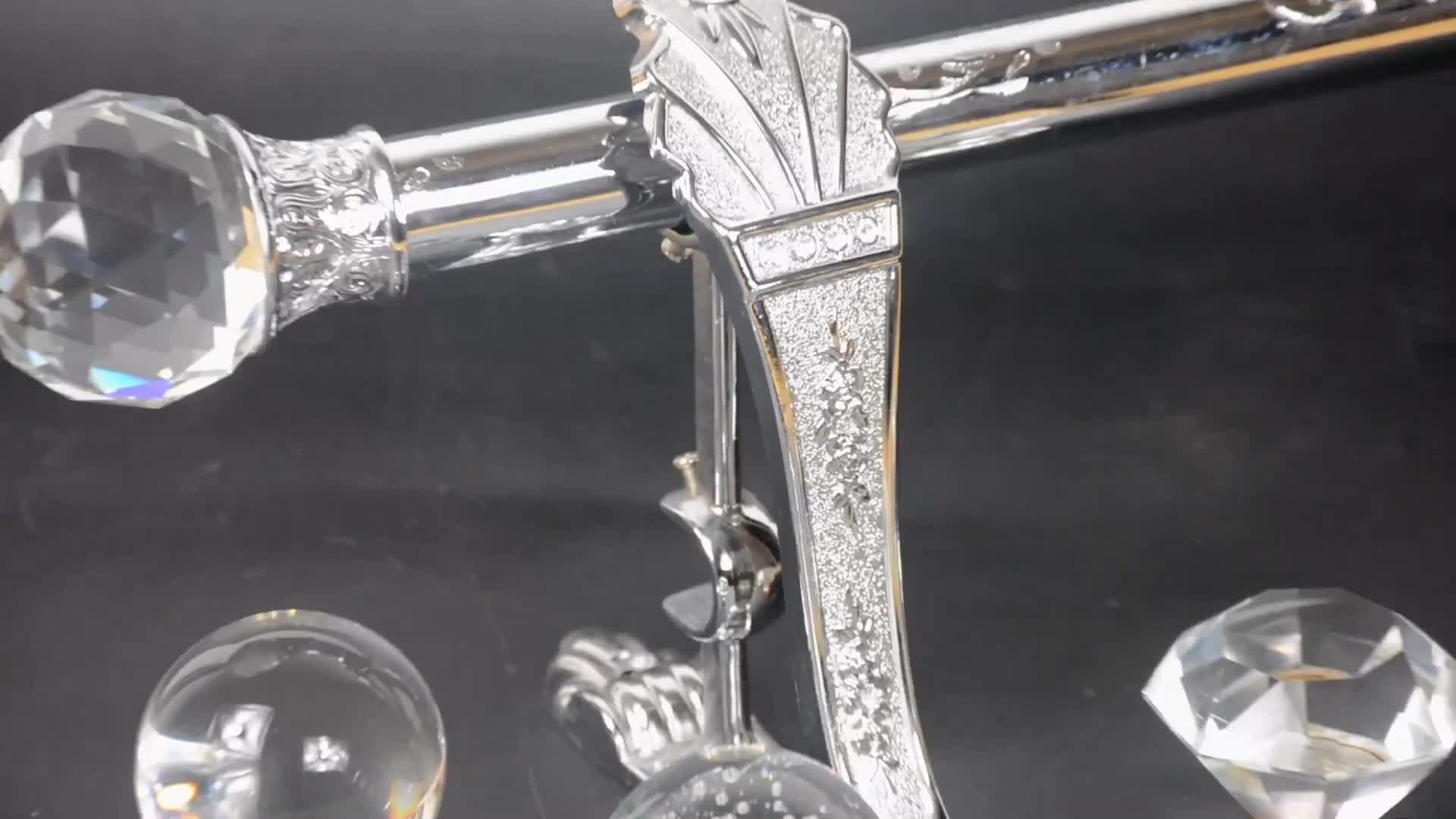 KYOK Wohnkultur Foshan Vorhang Stange Kristall Teleskop Dusche Vorhang Stange Für Die Wohnzimmer Verlängerung Vorhang Stange