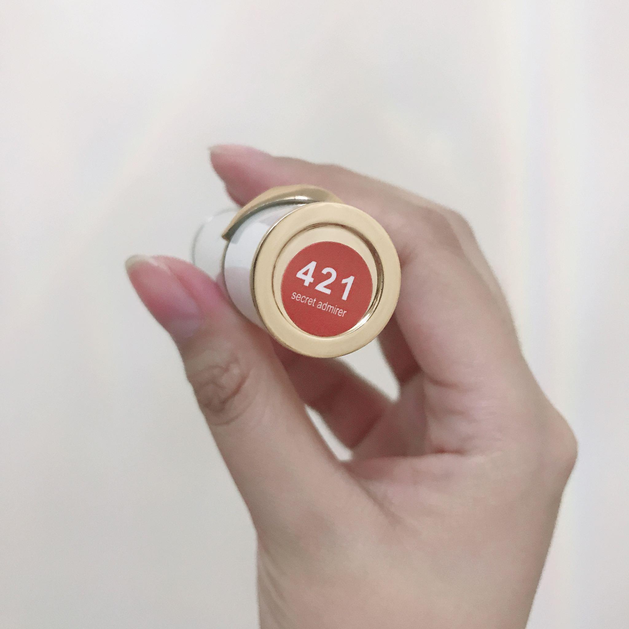she.likes.amelie 421号色是支红色偏橘很显白的口红