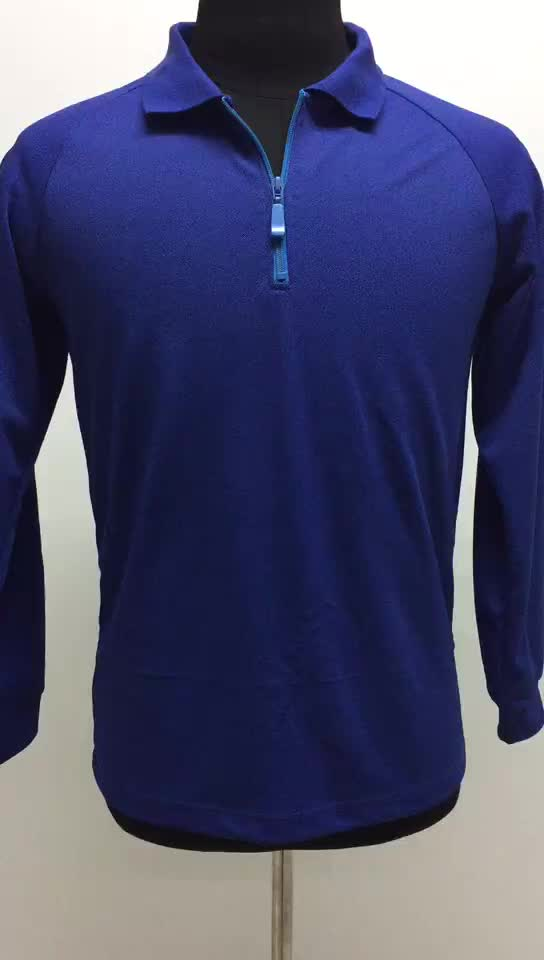 Wholesale 60cotton 40polyester long sleeve sport polo t shirts mens work clothes