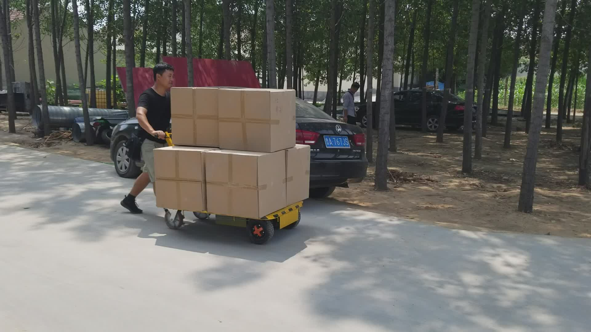Electric goods flatbed trolley suitable for warehouse handling from China