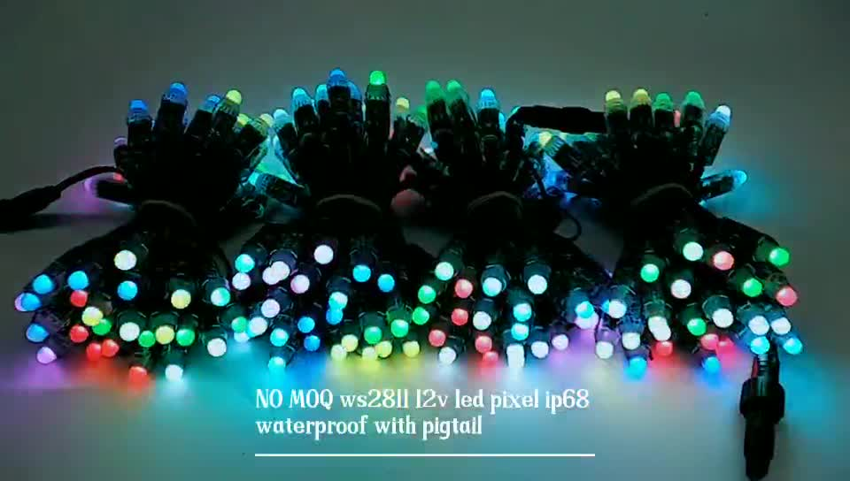 led modules 12mm IP68 Waterproof Full Color RGB LED Pixel with WS2811 IC DC5V for LED Channel Letter