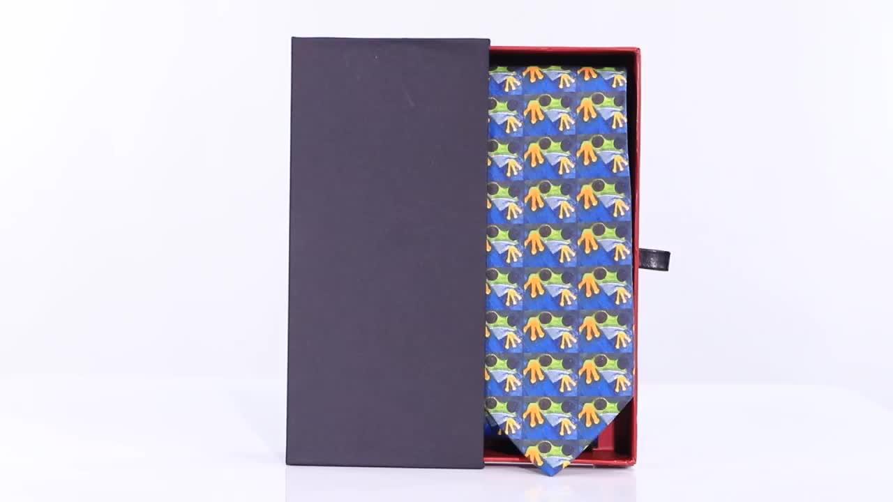Xinli Neckwear Custom Logo Necktie Series Multicolor All Over Pattern Seidenkrawatte Stripe Hand Made Silk Neck Ties