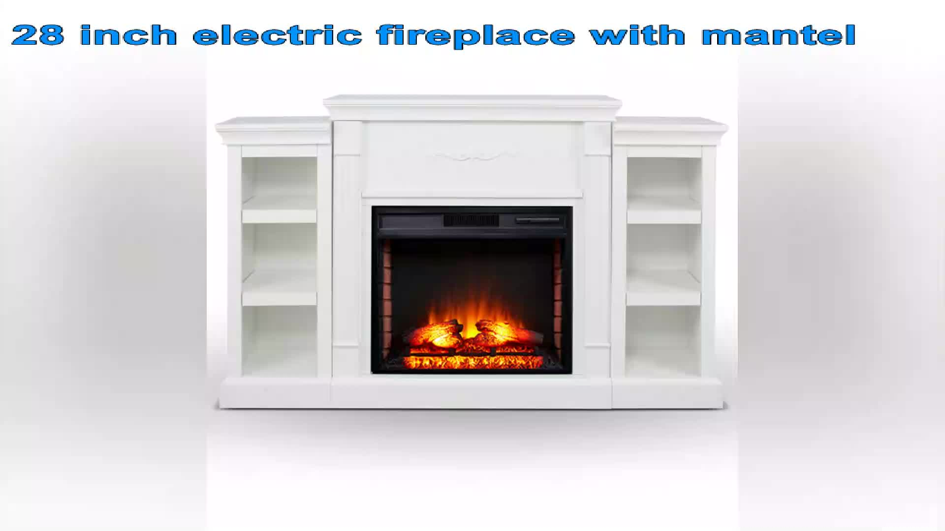 Insert Freestanding Portable Heater Stove with Remote Control Decor Home Room Indoor Realistic Flame Electric Fireplace TV