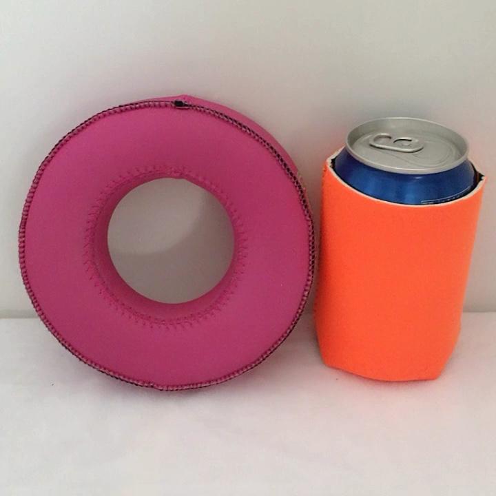 Неопрен плавающей напиток держатель простой пустой летом многоразовые может рукава пить бассейн поплавки подстаканники