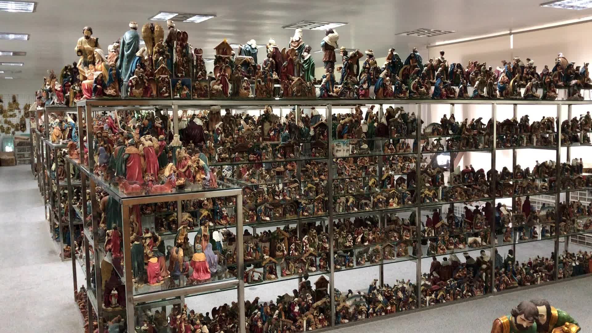 Conjunto de estatuetas de Natal Nativesity10-peça de Polyresin antigo, resina figurines de cena de natividade
