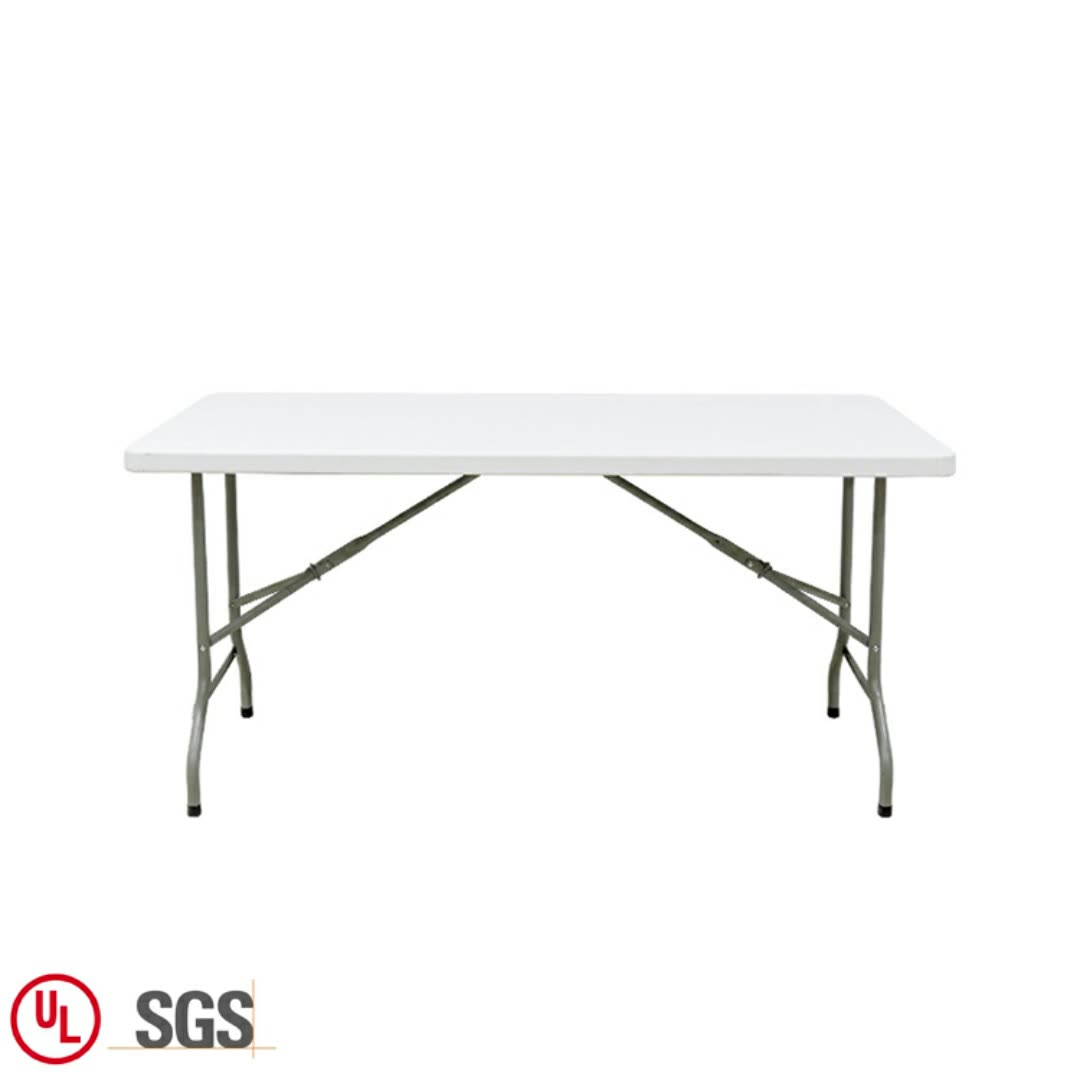 White Blow Molded Folding Cheap Dining Table Modern