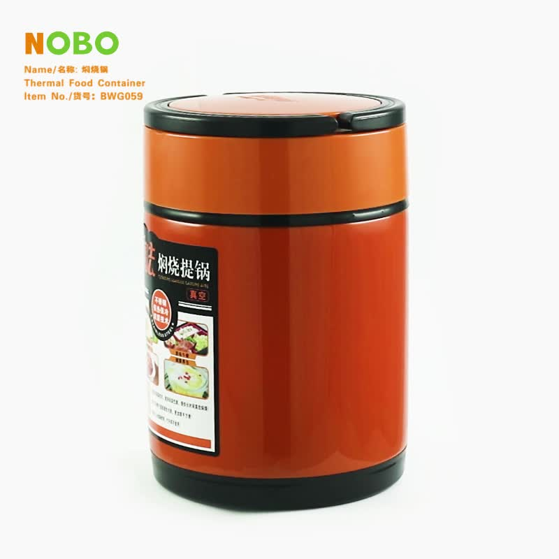 Wholesale tiffin bento lunch box and thermos food jar stainless steel braised beaker