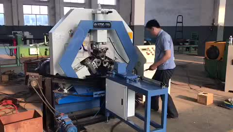 Automatic steel bar tube pipe threading rolling machine