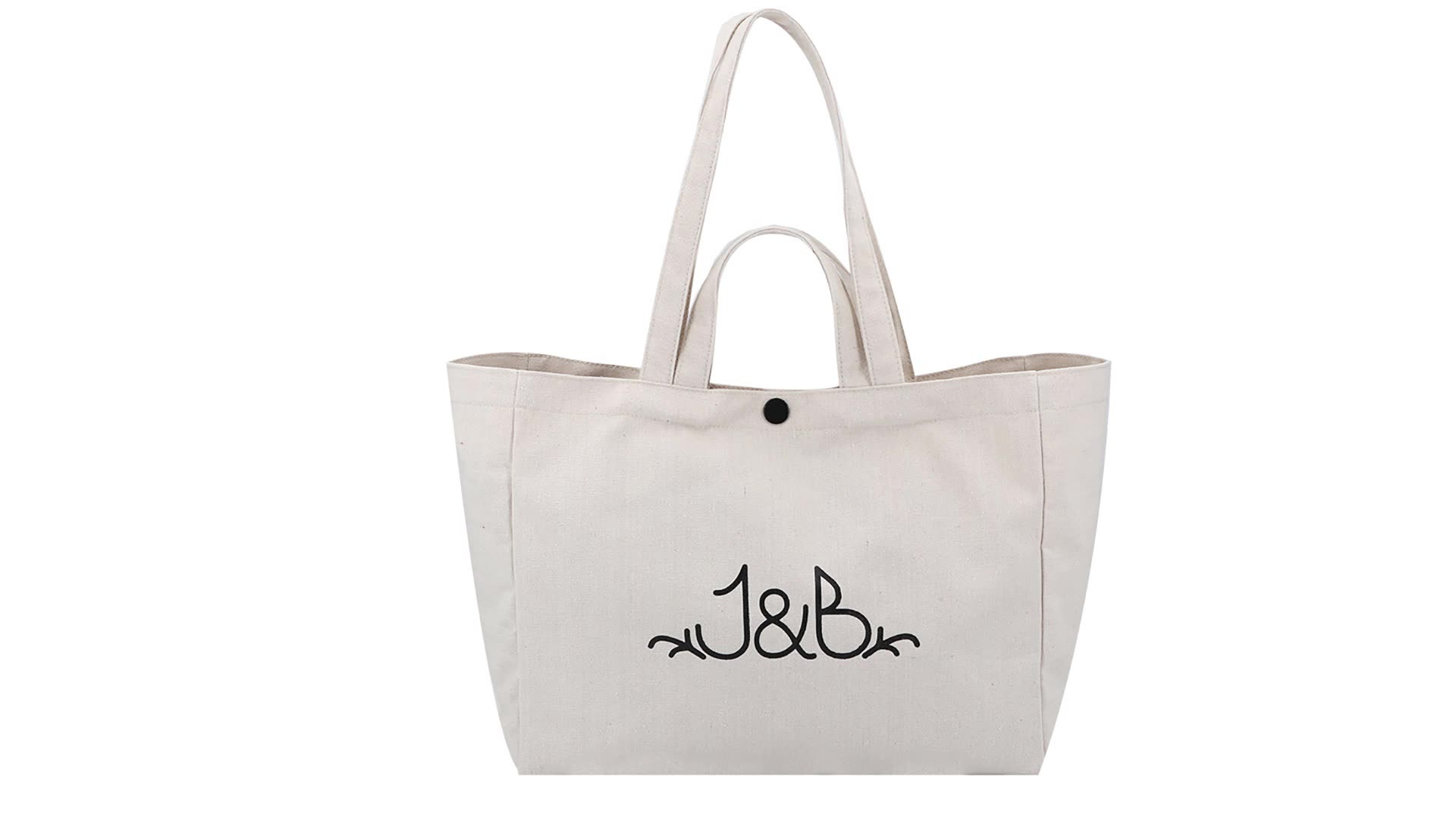 Eco Friendly Reusable Shopping Bag Two Handles Natural Cotton Grocery Bag Large Canvas Tote Bag for Promotional Gift