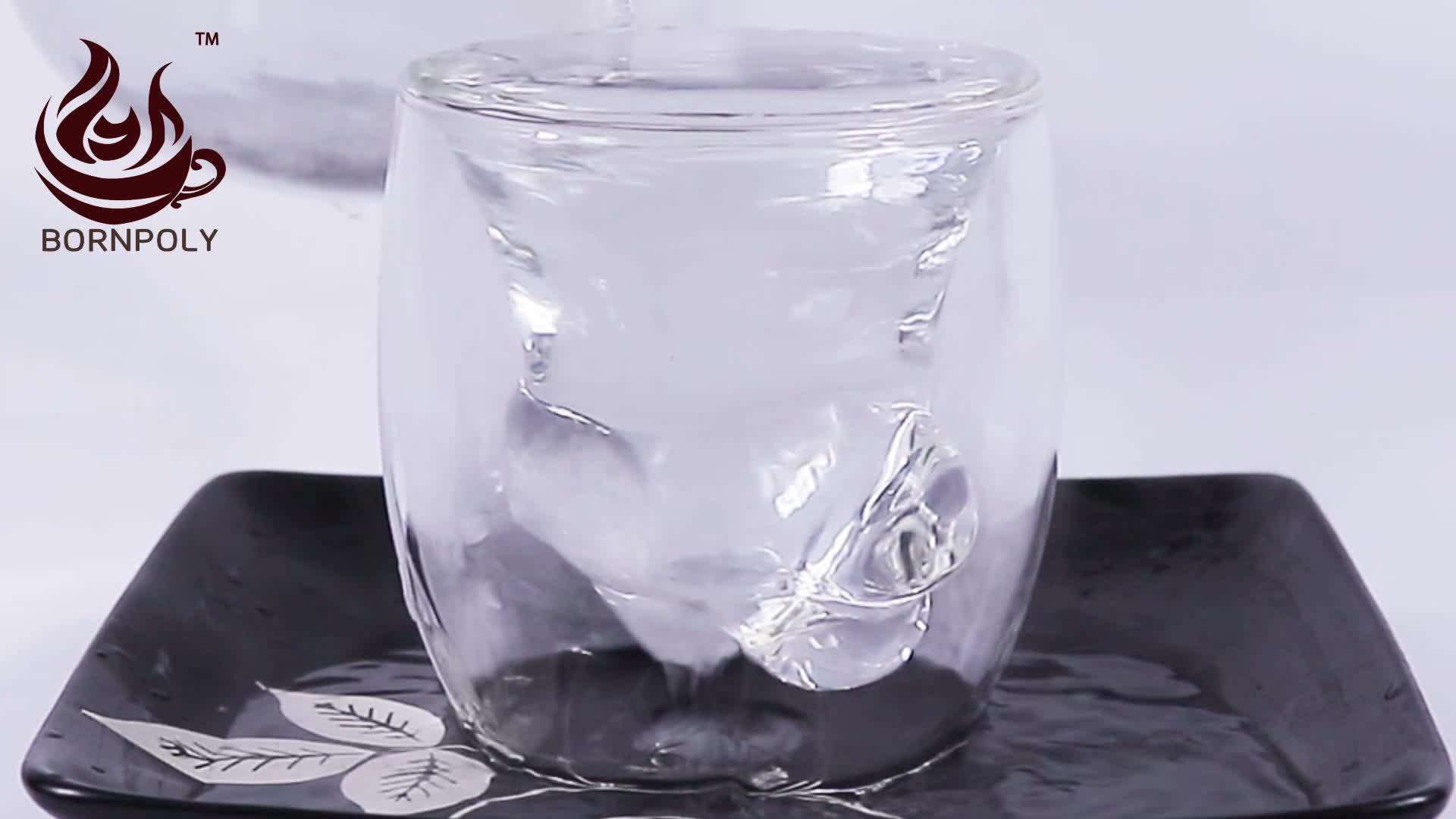 Unico individualità Creativa a forma di vino whisky tazza di vetro