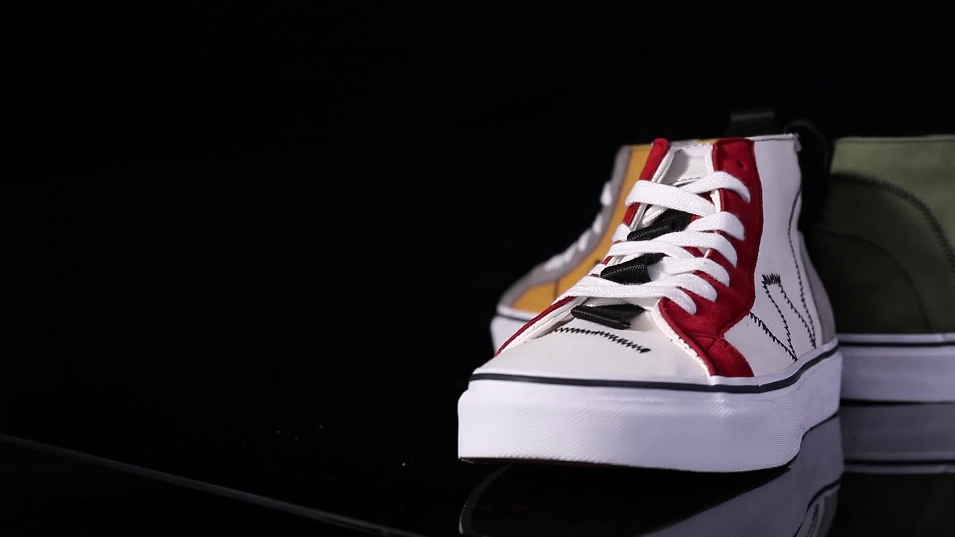 최신 디자인 탄성 레이스 남자 캔버스 신발 캐주얼 운동화 남성 낮은 가격 로퍼 신발