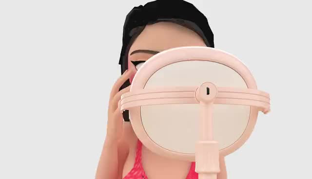 2018 new trending Desktop magnifying LED light makeup mirror selfie ring light