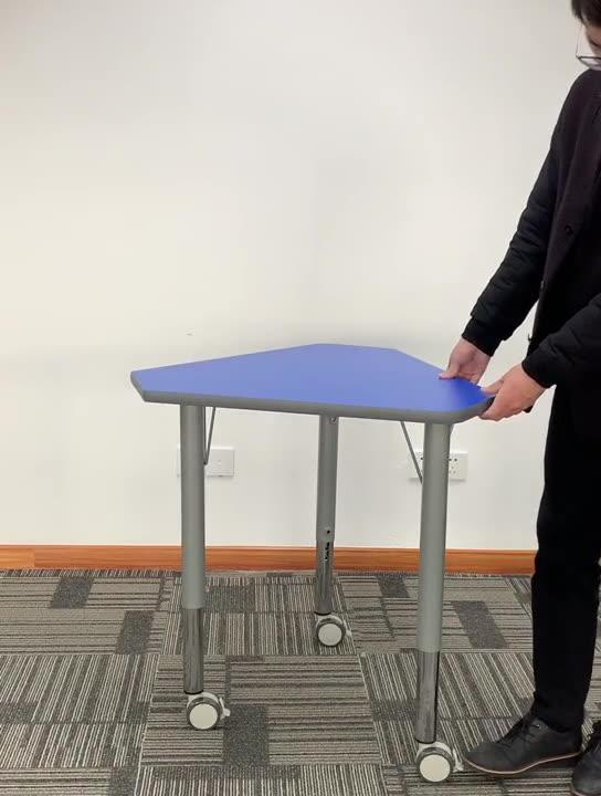 Escritorio de la escuela con silla estudiante plegable escritorio aula estudiante Escritorio