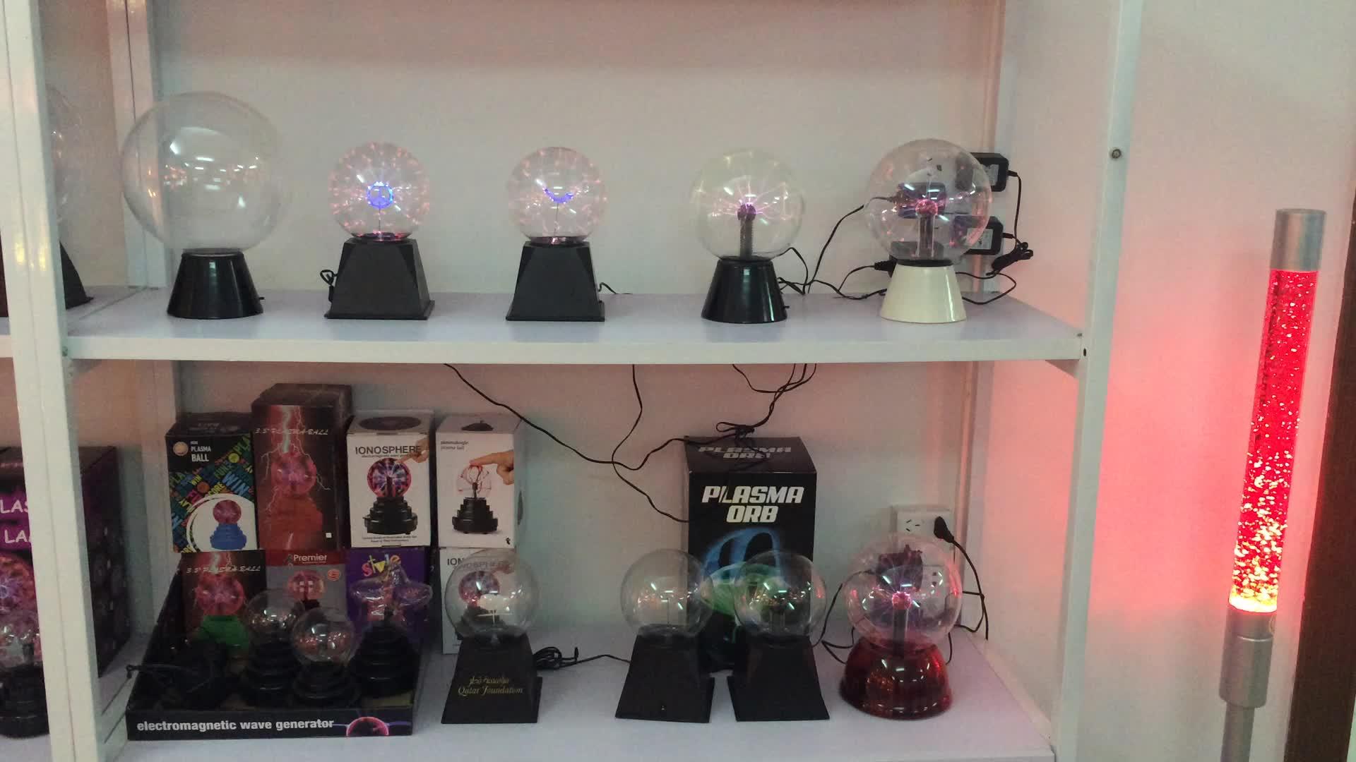 Plasma Bal Lamp Grote Elektrische Globe Statische Licht w Touch, Geluid Gevoelige Bliksem, Grote 8 Inch Glazen Bol