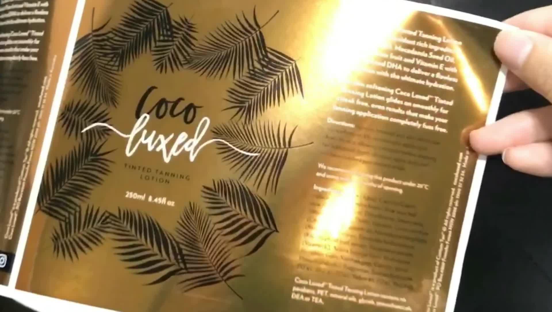 Auto Adesivo Impressão Personalizada Embalagem Private Label Cosméticos À Prova D' Água Óleo Óleo Essencial de Cuidados Da Pele Óleo de Argan Private Label