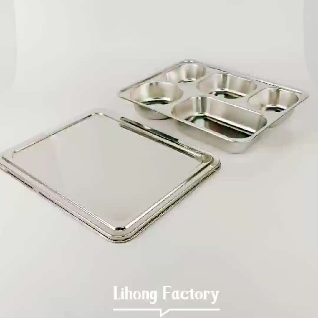 restaurant fast food serving tray stainless steel divided plates for adults buy divided plate. Black Bedroom Furniture Sets. Home Design Ideas