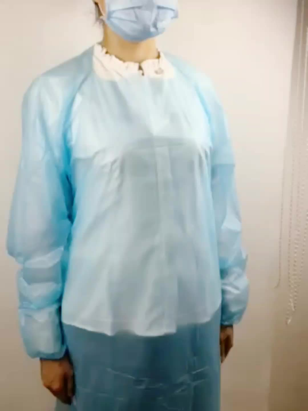 disposable surgical gown hospital medical CPE gown