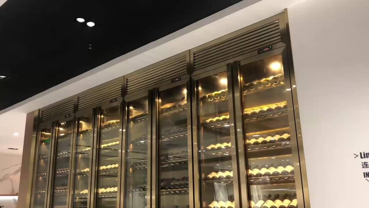 גבוהה-סוף אישית יין זכוכית תצוגת קבינט מודרני יין בר ארונות יין chiller