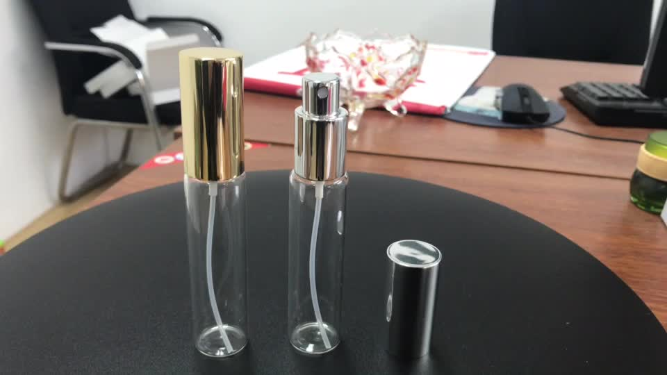 30ml Refillable glass perfume bottle with gold or sliver cap customized logo
