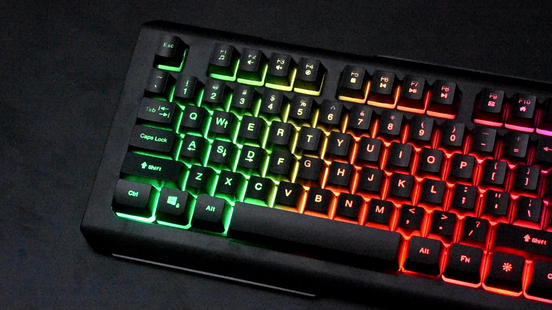 Best selling LED computer gaming keyboard mouse combo with customized package