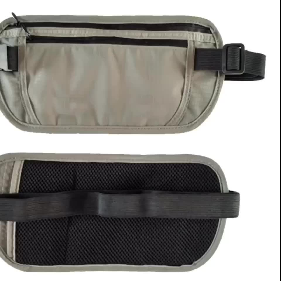 Slim Hidden Discrete Waist Pack with Secure RFID Protection Best Travel Money Belt for Men and Women