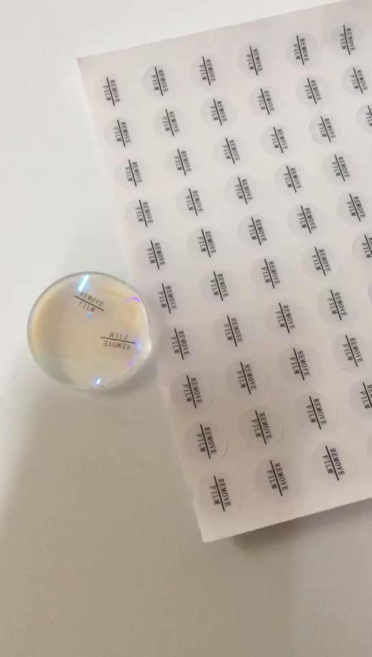 Yang Dapat Dilepas Bahan Perekat Transparan Label Stiker