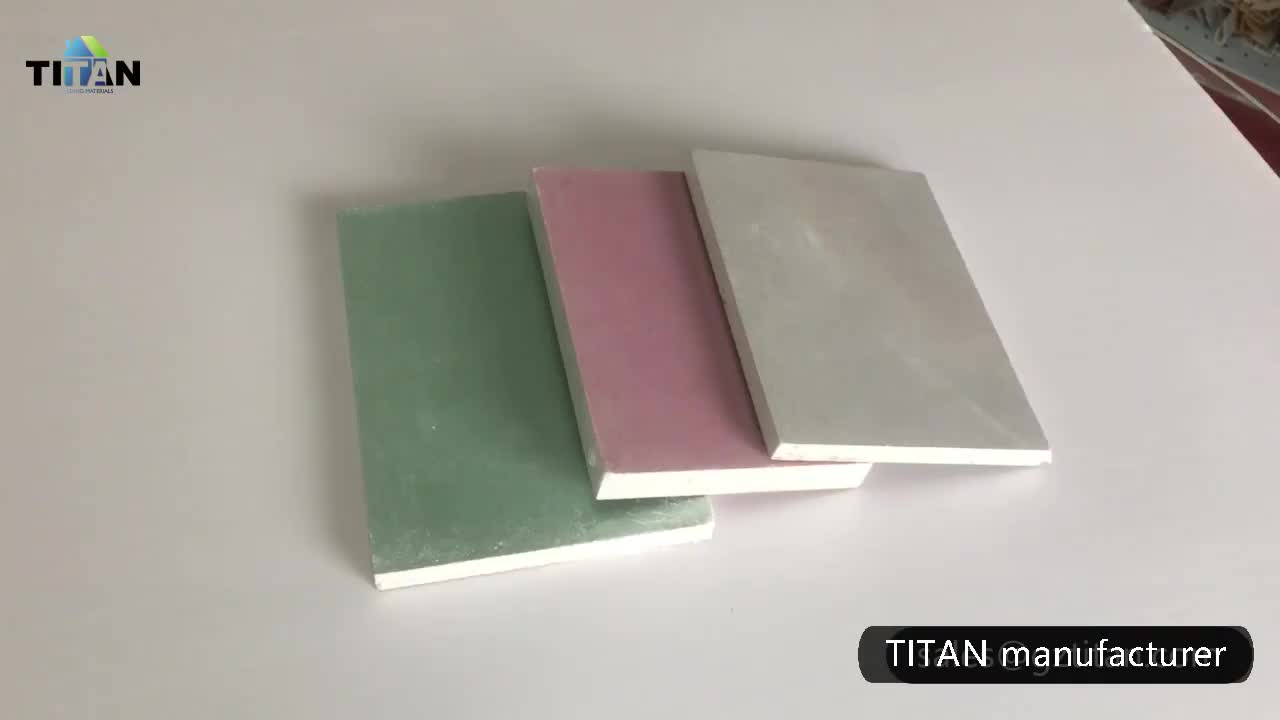 Cheap Wall System 12.5mm Thick Gypsum Board in Indonesia