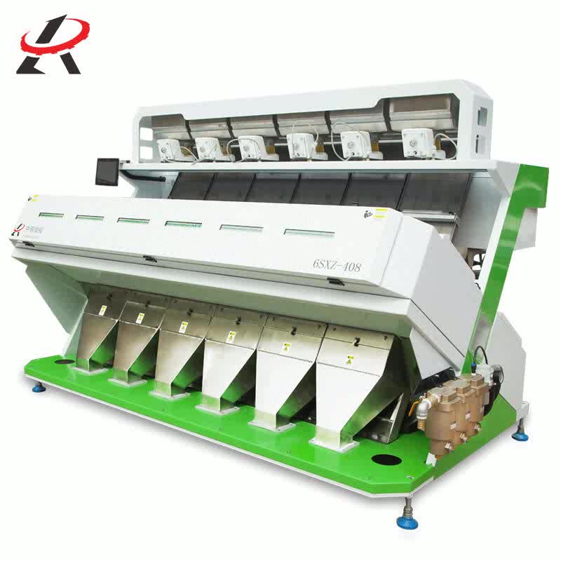 Equivalent connector grain optical color sorter for ICU&CCU use