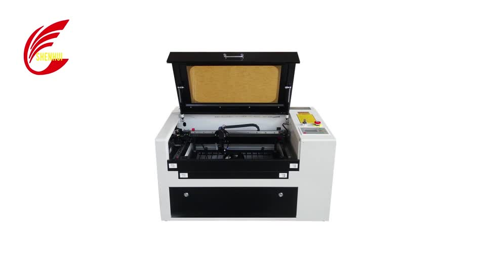 50W CO2 laser engraving cutting machine engraver cutter irregular rotary device