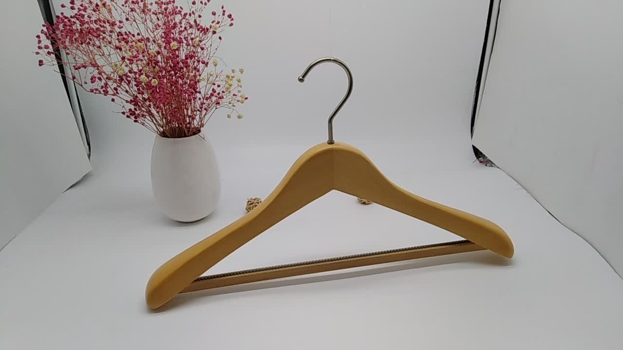 Vintage color percha de madera para ropa