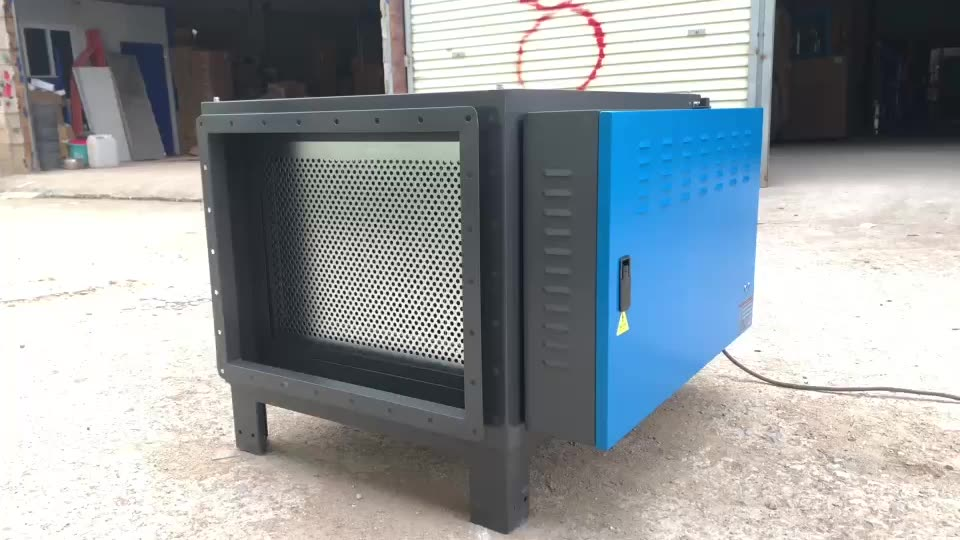 new arrive high efficiency ionizer air industrial electrostatic precipitation smoke machine for disinfect