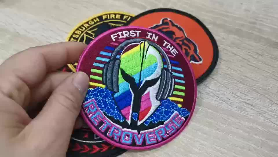 High quality custom embroidery scout sport iron on patches for clothing