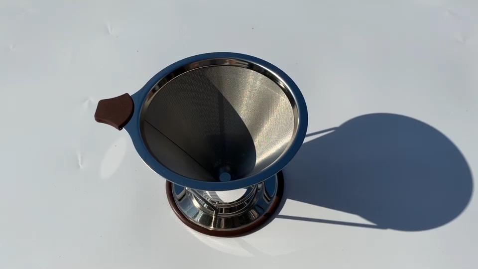 Shangji — filtre à café en acier inoxydable, maille sans papier, brassage à froid, réutilisable, 2020