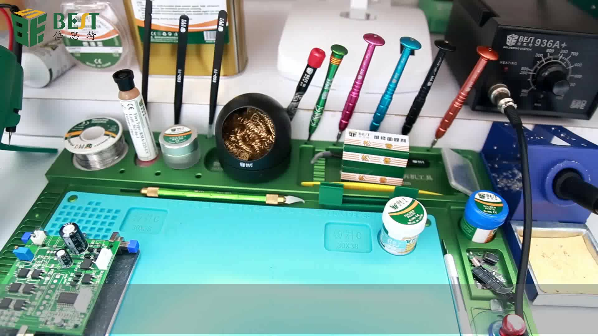 Welding Soldering Accessories Mayitr Solder Iron Tip Cleaner Ball Holder with Steel Wire Sponge