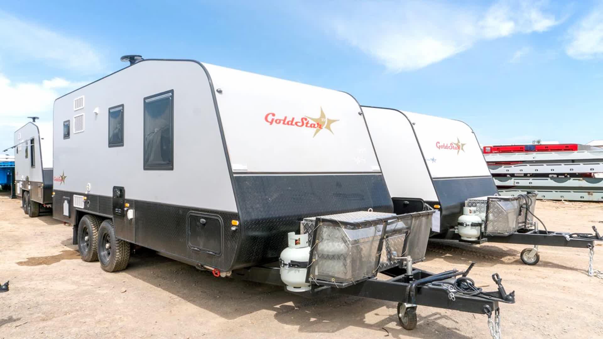 Australiano standard di campeggio pop top caravan trailer camper