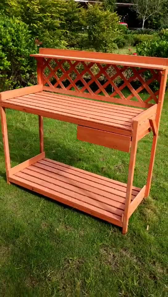 Commercial Outdoor Cheap Wooden Potting Bench For Sale