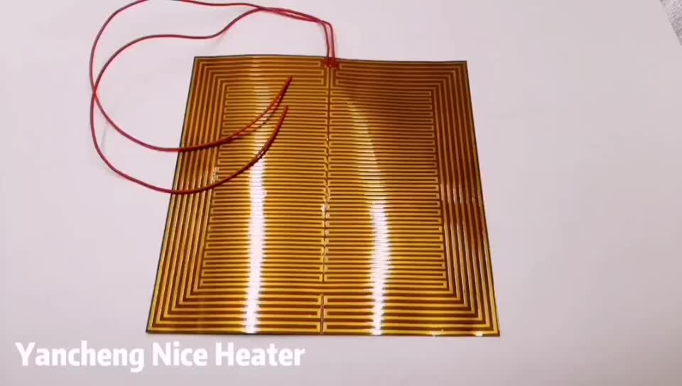 300*300 мм 3D принтер грелку Гибкая Полиимидная Пленка Нагреватель Pad/кровать