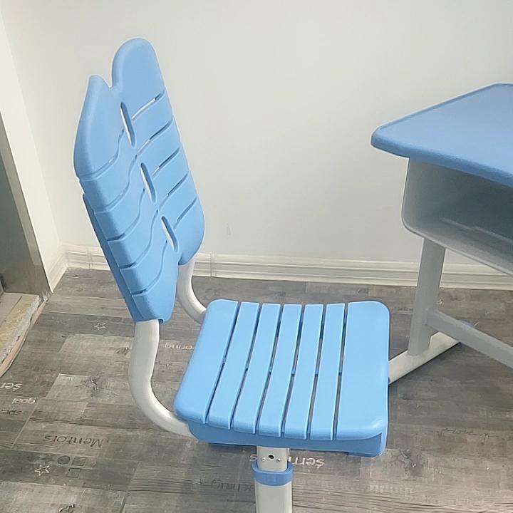 Plastic-steel Top Blue Seat Metal Customized Anti Sets adjustable School Furniture Desk  For Students